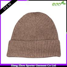 16FZBE04 knit beanie cashmere men custom beanie for winter