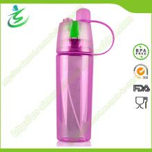 Garrafa de água de névoa esportiva de 600 ml com spray Logotipo personalizado