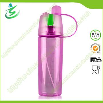 600ml botella de agua de la niebla de los deportes con el logotipo de encargo del aerosol