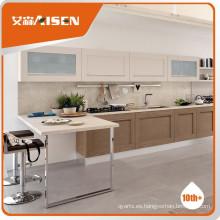 Popular para el mercado gabinete de cocina de madera maciza de roble blanco de estilo americano