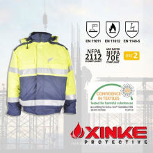 high quality fr aramid jacket with reflective tape  1.Fabric technical parameters of aramid jacket: