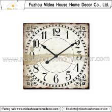 Quadrado, forma, retro, madeira, relógio