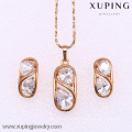 62183 Xuping Fashion Woman Jewlery Set with 18K Gold Plated