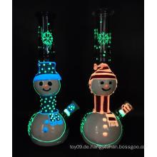 Frohe Weihnachten Puppenart Glas rauchende Bongs
