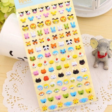 Colorful puffy sticker for kids such as Fruit and cartoon