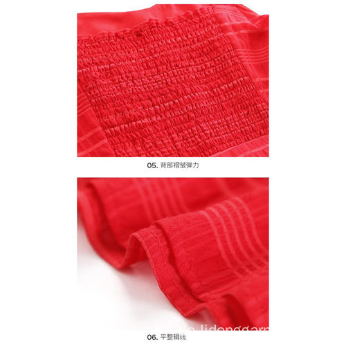 Sling Red Clothes Cotton Blends Sommerkleid