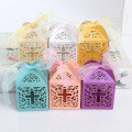 Paper box chocolate wedding favor candy box