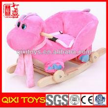 mecedora linda del dinosaurio del regalo popular rosado y azul de la felpa para el bebé