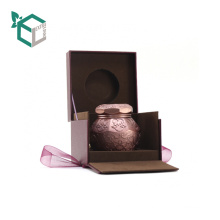 Creative high end rigid velvet inside fancy cloth paper out side logo stamping luxury brand perfume box