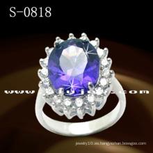 Anillo de diamante de plata de ley 925 de joyería de moda
