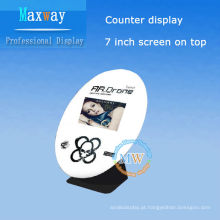 display de balcão de lcd de 7 polegadas