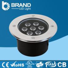 Alta potência de aço inoxidável de boa qualidade ao ar livre branco quente 7W luz subterrânea