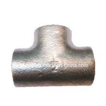 """Accesorios de tubería de hierro maleable 1/2 """"Plain Galvanized Tee"""