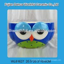 Taça de coruja cerâmica venda quente