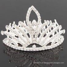 Accesorios nupciales del pelo tipos cristalinos de la tiara de la barrera