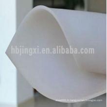 Feuille en caoutchouc d'isolation transparente blanche