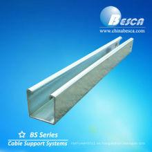 canal de puntal uni de aluminio