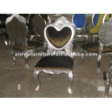 Diseño de forma de corazón silla de madera XYD071