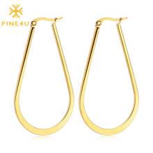 Modern Stainless Steel Dangle Earrings For Women Jewelry Accessories