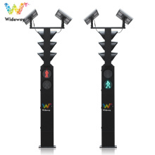 solar powered double-sided Integrated led traffic light
