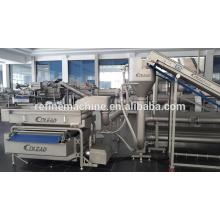 SUS 304 SAND STEEL Pipe washing sterilization machine/Vegetable and fruit sterilization machine/vegetable processing line