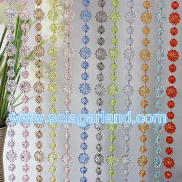 20MM 29MM Flower Shape Acrylic Crystal Bead Garland Chain For Wedding Party Home Decor