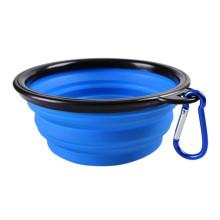 Bols de nourriture d'eau en silicone personnalisés colorés portables