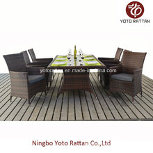 Outdoor Wicker Dining Set with Steel Frame (1212)