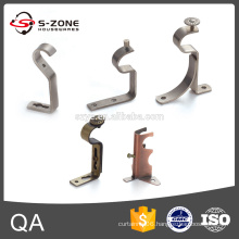 Single and double metal hanging brackets for curtain rod