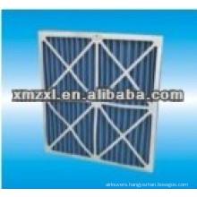 cardboard frame pleated air filter
