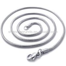Acier inoxydable classique de 2 mm de large pour hommes bijoux en chaîne unisex