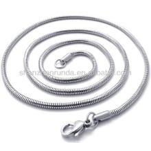 Classic 2mm largura aço inoxidável para homens mulheres unisex cadeia colar jóias