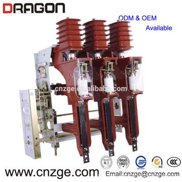 FZRN25A-12 / T200-31.5 interruptor de carga neumático de alto voltaje de vacío 12kv