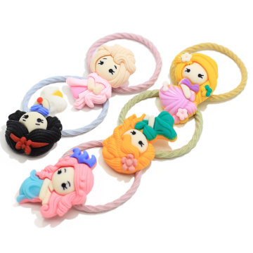 High Quality Baby Toddler Girl Cartoon Elastic Hair Ties Cartoon 3D Hair Rope Ponytail Holder Birthday Party Hair Accessories