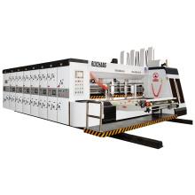 Automatic adopts vacuum flexo carton box printing slotting and die cutting machine