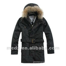 Revestimento de casaco exterior acolchoado de estilo normal para homem