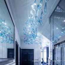 Blue art decorative big customized pendant lamp