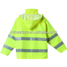 EN471 impermeável com capuz reflexiva segurança inverno jaqueta