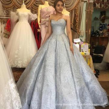 Ball gown luxury gray wedding dress bridal gown 2017 HA749B
