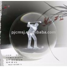 Laser 3d gravou a bola de cristal para lembranças