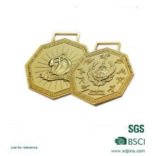 Zinc Alloy 3D Logo Plated Musical Theme Award Medal