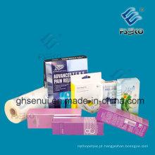 Filme de laminação térmica de brilho BOPP para impressão offset (FSEKO-21mic)