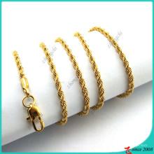 Collier en or Twist Chain pour collier Pendentif Locket (FN16041804)