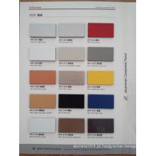 Painel composto de alumínio PVDF de 3mm / 4mm / 5mm / 6mm / 6mm para uso ao ar livre