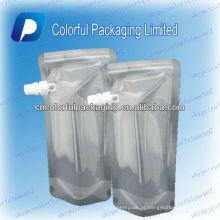 claro levante-se o malote líquido do bico / saco de plástico para o saco da água / água