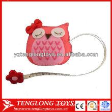 Funny animal shaped owl plush measuring tape