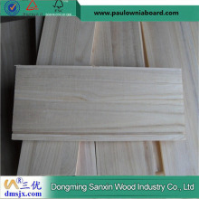 Natural Color Grooved Paulownia Panel for Drawer Sides