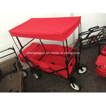 Folding Beach Wagon with Width Wheel Canopy