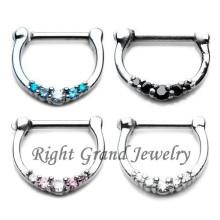 16Г Септум кольцо Хирургическая сталь перегородки Кликер Пирсинг ювелирные изделия