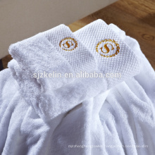 custom embroidery plain white 16s 100% cotton 5 star hotel towels